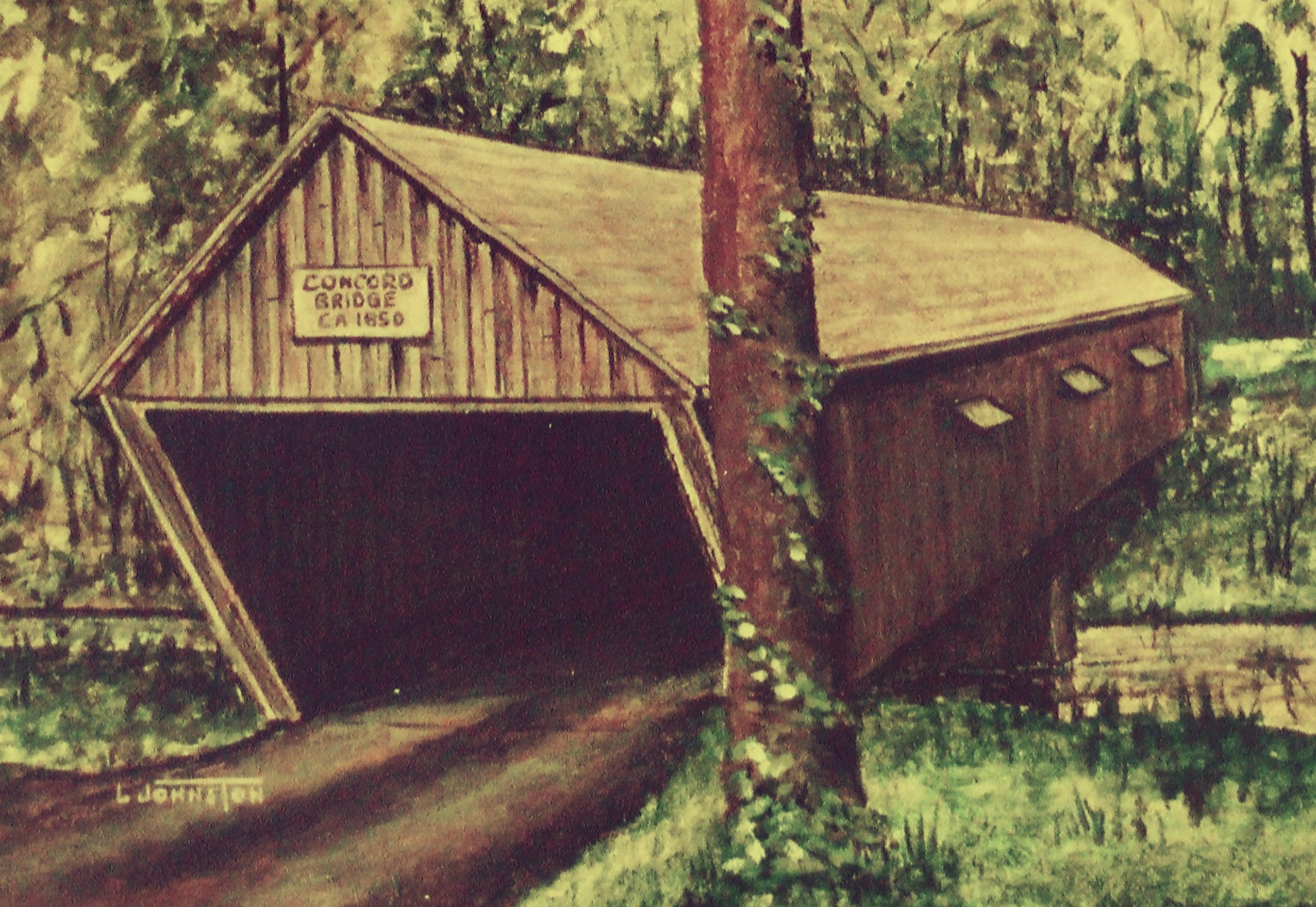 Covered Bridges Larry Johnston Nostalgic Artist